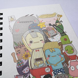 [Large] + Mini sipping surface capitalists Han original picture book notes book