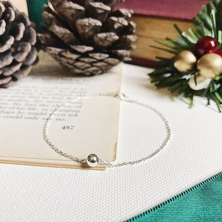 ::Silver Christmas :: Single Silver Ball Secret Bracelet (Gift Box)