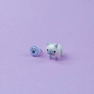Cat Earrings - Polymer Clay Jewelry, Cute Gift for Cat Lover, Kawaii kitty