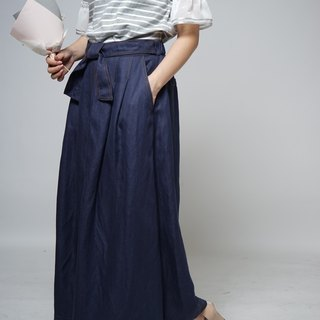Summer countermeasures series denim temperament open skirt