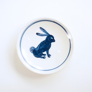 Small hand-painted porcelain - Blue Bunny