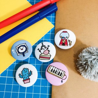 party-party / small badge (a total of 5)