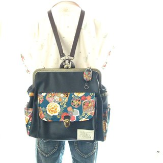 3 WAY left zipper attaching BIG rucksack full set Japanese pattern wax color × f