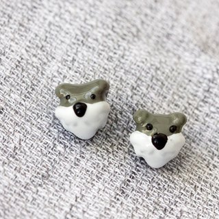 Schnauzer Dog Earring with 925 Sterling Silver post