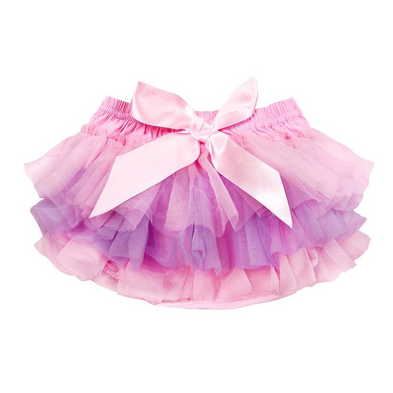 Cutie Bella 雪紡蝴蝶結蓬蓬褲裙 澎澎裙屁屁褲 Pink Lilac Pink