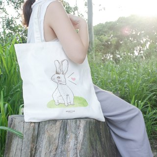 【Animal Series】#3 Curious Rabbit totebag (Large)