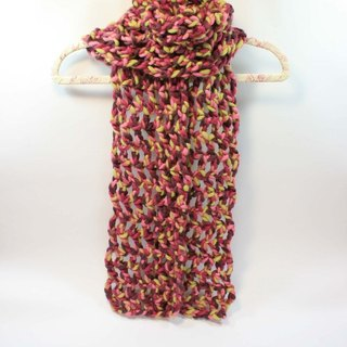 Knitted Handwoven Scarf - Pure Wool 02