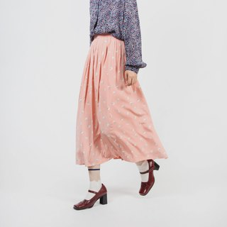[Egg Plant Vintage] Sakura Time Pleated Ancient Dress