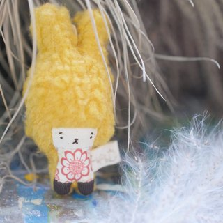 Mini Bunny - Warm Yellow Hair - Pink Flower - 2018169