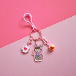 Pink Department // Let's Celebrate - Fructose Handmade Charm / Key Ring