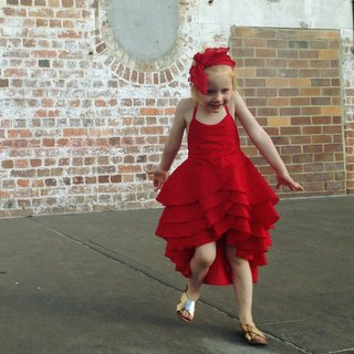 Girls Scarlet Party Flamenco Dress in Red 3-5 Years