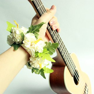 ribbon lei for ukulele,w flower,ukulele strap,ukulele accessories,hawaiian