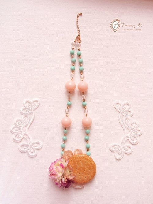 Sugar Biscuit Series / Available Ai Mali tortillas Beads Necklace