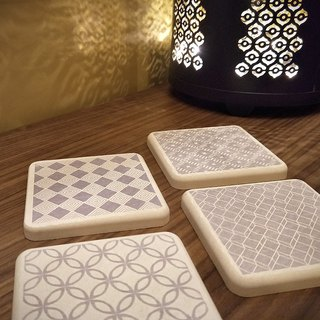 [MBM] Minimalist Everlasting MBM Tile Diatomaceous Earth Coaster Set (5 boxes in one box)
