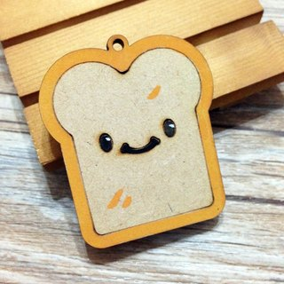 Breakfast - toast brothers wooden Keyring