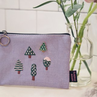 A. Strawberry Lavender Forest Cosmetic Bag