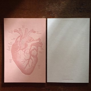 Follow Your Heart Heart Map Postcard / Pink Card Hot Pink