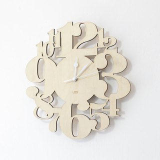 LOO wooden mute wall clock | Digital Forest