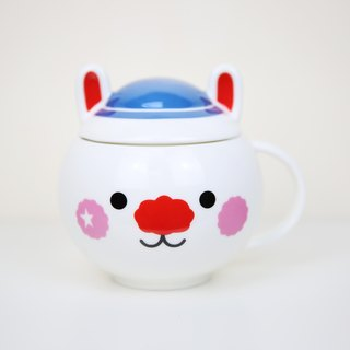 Blue Star Rabbit ceramic cup