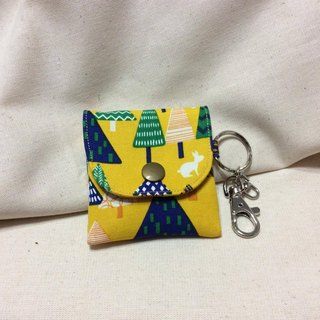Headphone storage bag, peace bag, purse, forest, small tree