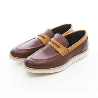 ARGIS ultra lightweight two-color penny loafers #31118深咖啡-Japanese handmade