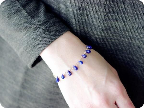 Shizuku Lapis Lazuli Bracelet Good Luck Success Luck! December Birthstone