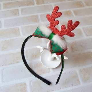 Colorful Christmas styling headband / red