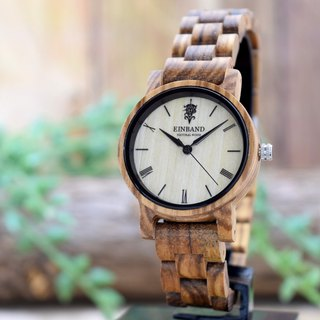 EINBAND Reise Zebrawood 32mm Wooden Watch