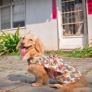 Among_dog harness_Japanese yukata(small size)