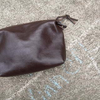 Leather Toiletry bag unisex