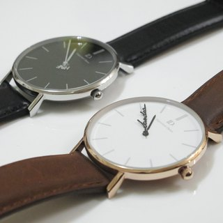 Customized watch couple, meticulous pair of watches - quick release leather (pair)