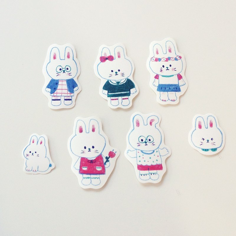 Rabbit sticker (7sheets)