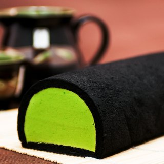 Black Magic Bamboo Charcoal Tea Cake Roll
