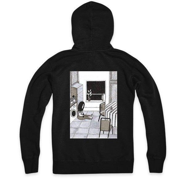 Xmas Special - 黑 - 連帽拉鍊外套