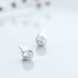 Round ● Stud Earrings Silver 925