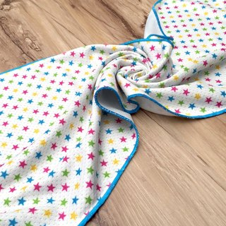 Cool towel - rainbow stars