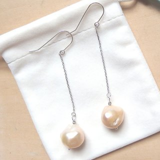 Dangle Freshwater Pearl Earrings | Able to change into clip on