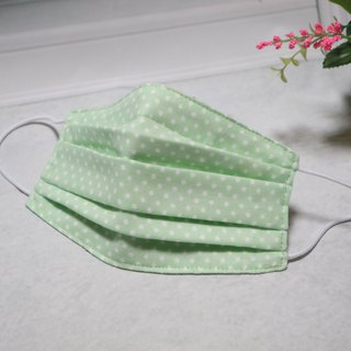 Light green small point hand-made three-dimensional environmental mask can be used repeatedly for cleaning