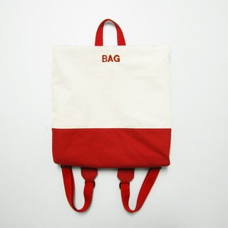 Fang Fang red backpacks -BAG (embroidery section to change introduces a note)