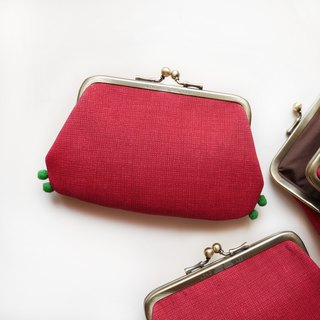 Climbing red crab mouth gold buns mother bag / purse [made in Taiwan]