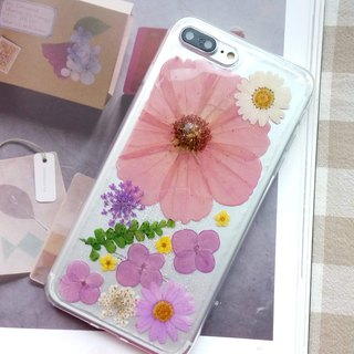 Handmade phone case, Pressed flowers phone case, iPhone7plus,iPhone8plus