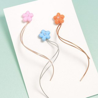 Romantic flower dance ear / ear clip (5 colors optional)