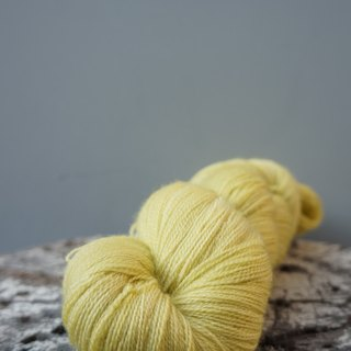 Hand-dyed lace line. Mustard yellow (BFL)