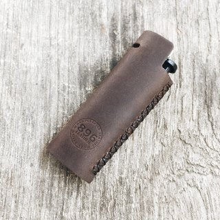 Dark Brown leather lighter case, Lighter cover, Handmade lighter case