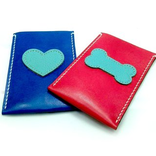 [Handsome] hand-stitched leather collar Handmade Leather Card Holder