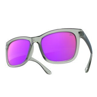 2NU - FANCY2 Sunglasses - Matte Grey - Purple Revo Lens