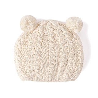 SISSO organic cotton ball bears knitted hat