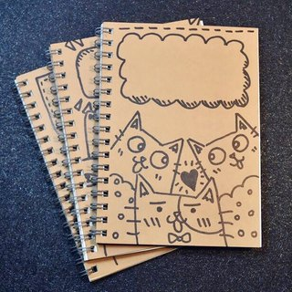 13 hand-painted pattern notebook