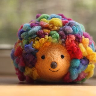 Rainbow hedgehogs decorated with bright color There are currently spot direct subscript