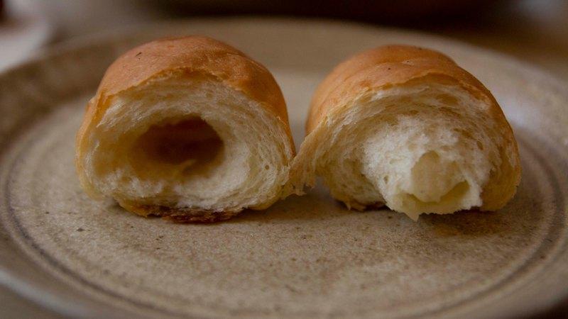 純素手工鹽奶油捲麵包